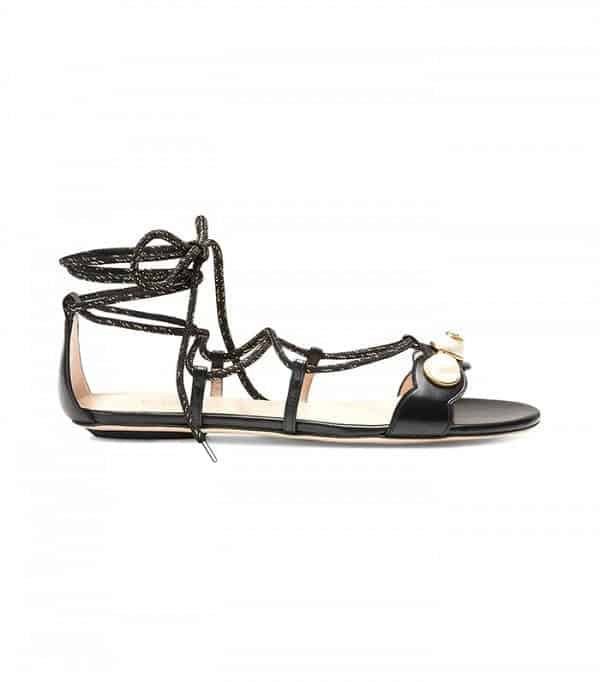 gucci-ankle-strap-sandals Shoes With Skinny Jeans Women-18 Perfect Outfit Combinations