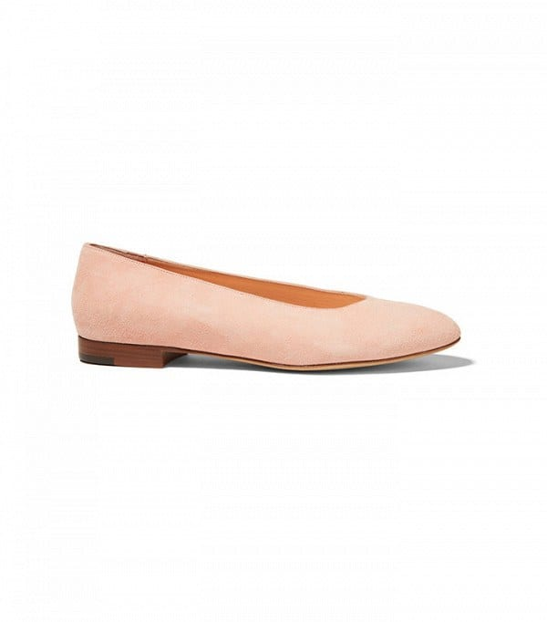 mansur-gavriel-ballerina-flats Shoes With Skinny Jeans Women-18 Perfect Outfit Combinations