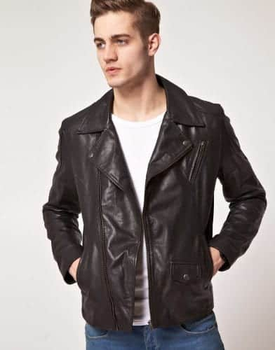 selected-john-leather-jacket-392x500 Outfits for Short Height Guys-20 Fashion Tips to Look Taller