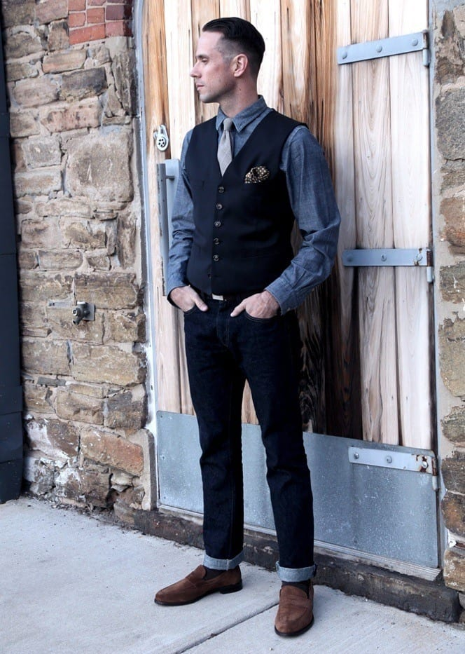 waist-coat-outfit Outfits for Short Height Guys-20 Fashion Tips to Look Taller