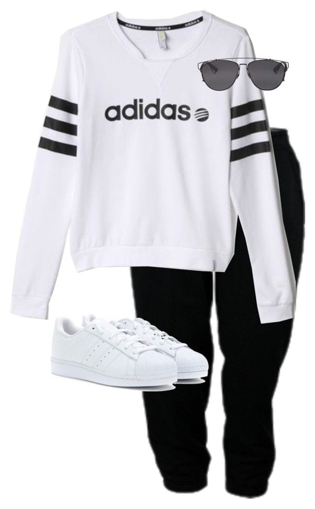 47f214098e493ef347994d26d509a292 30 Cute Outfits with Adidas Shoes for Girls to try this Year