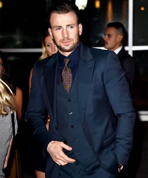 ChrisEvans-1 Celebrities Beards Styles-30 Most Sexiest Actors with Beard