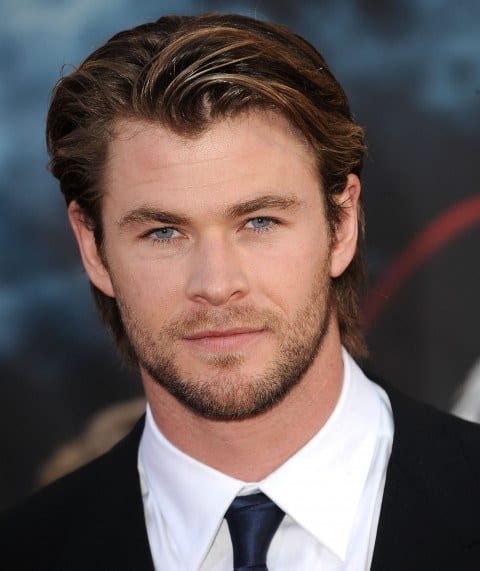 Chris_Hemsworth_face_shape Beard Styles for Round Face-28 Best Beard Looks for Round Faces