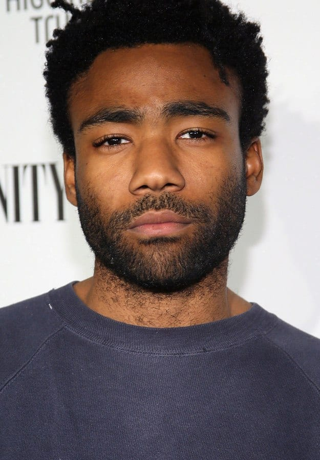 DonaldGlover Celebrities Beards Styles-30 Most Sexiest Actors with Beard