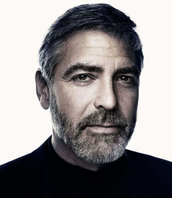 GeorgeClooney Celebrities Beards Styles-30 Most Sexiest Actors with Beard