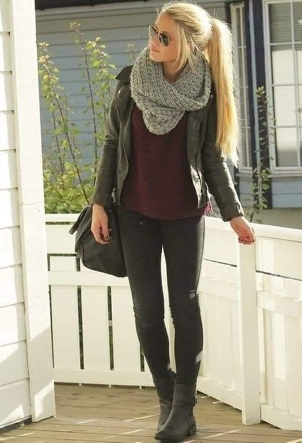 Stylish-Fall-Outfits-For-Women-21 2018 Thanksgiving Outfits Ideas-30 Ways to Dress up on Thanksgiving