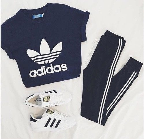 cool ways to wear outfits with adidas shoes (21)