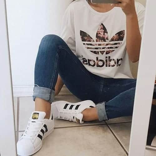 adidas-blanco-chica-estilo-Favim.com-3521051 30 Cute Outfits with Adidas Shoes for Girls to try this Year