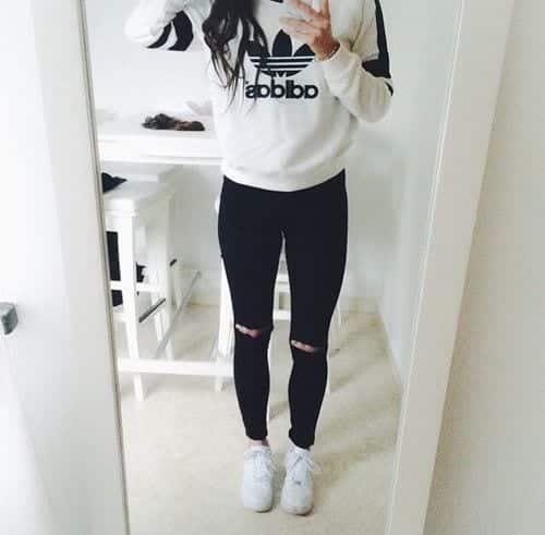 cool ways to wear outfits with adidas shoes (13)