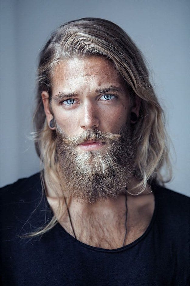 beautiful-men-with-beautiful-hair Beard Styles for Round Face-28 Best Beard Looks for Round Faces