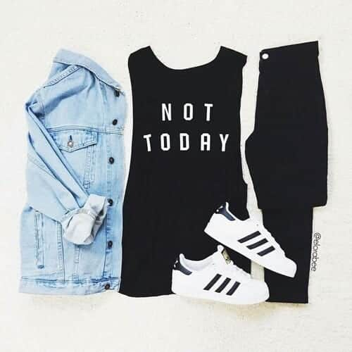 black-adidas-top-superstar-Favim.com-4146524 30 Cute Outfits with Adidas Shoes for Girls to try this Year