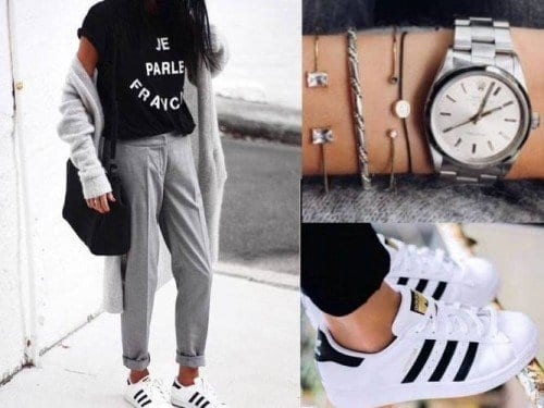 cool-casual-outfit-with-adidas-500x375 30 Cute Outfits with Adidas Shoes for Girls to try this Year