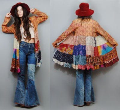 hippie-2 Patchwork Outfits-21 Ways to Wear Patchwork Outfits this Year