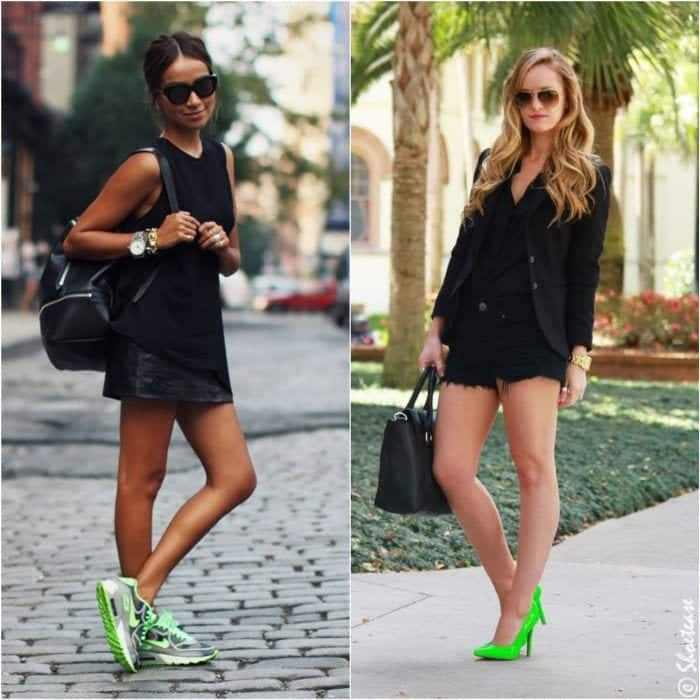 outfits-with-green-shoes Cutest Outfits with Sneakers-18 Best Sneaker Styles for Girls 2018