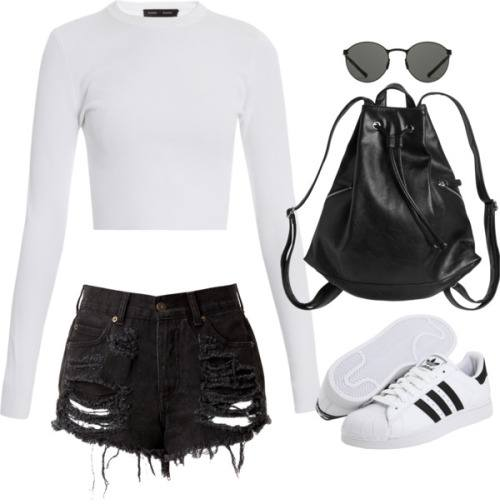 tumblr_nbfl9aU9Ga1rx0huko1_500 30 Cute Outfits with Adidas Shoes for Girls to try this Year