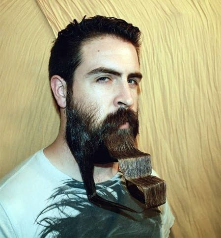 unique-beard Funny Beard Styles-20 Weirdest and Unique Facial Hair Looks Ever
