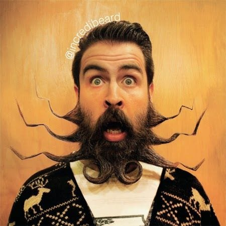 unique-beard2 Funny Beard Styles-20 Weirdest and Unique Facial Hair Looks Ever