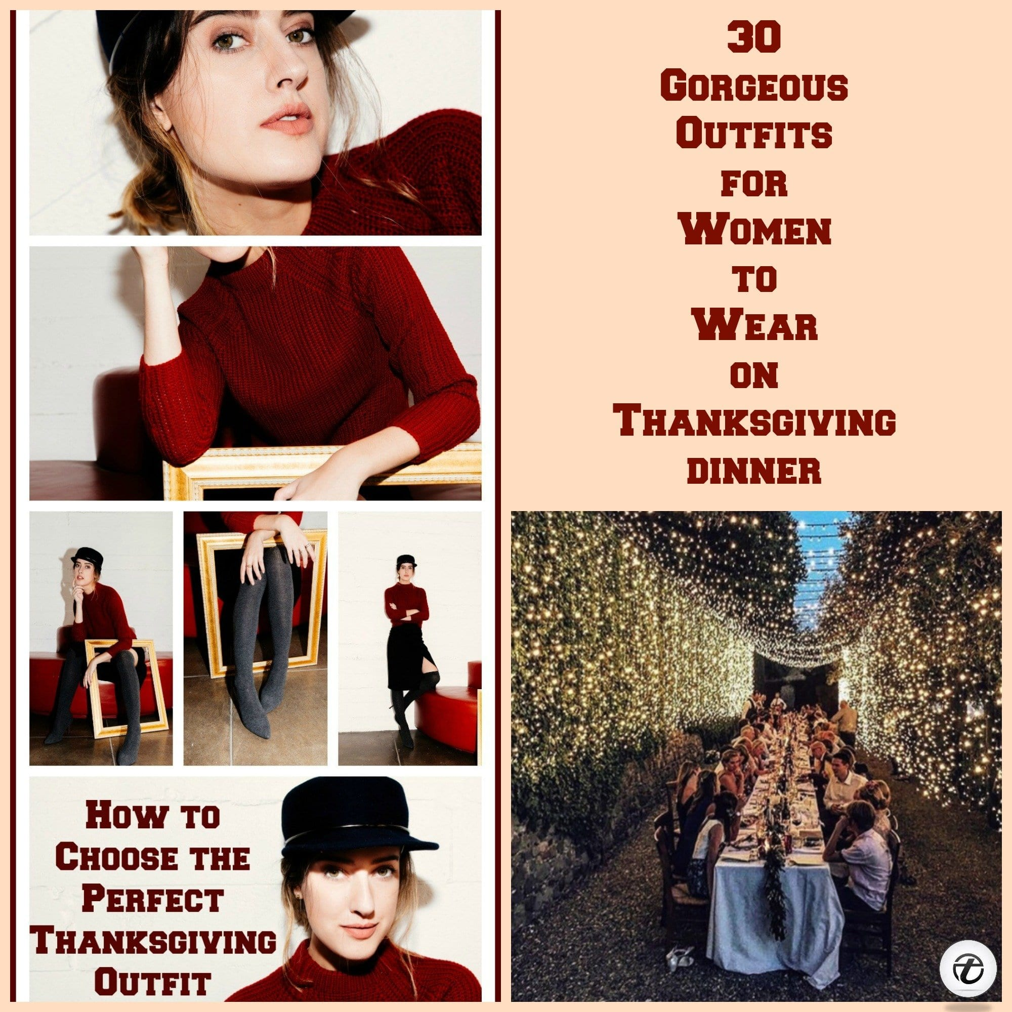 what-to-wear-on-thanksgiving-dinner 2018 Thanksgiving Outfits Ideas-30 Ways to Dress up on Thanksgiving