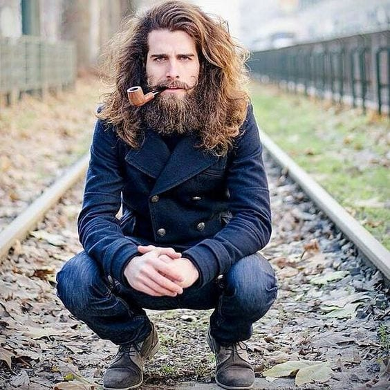 withlonghair-1 Facial Hair Styles-30 Best Beard Styles 2018 with Names and Pictures