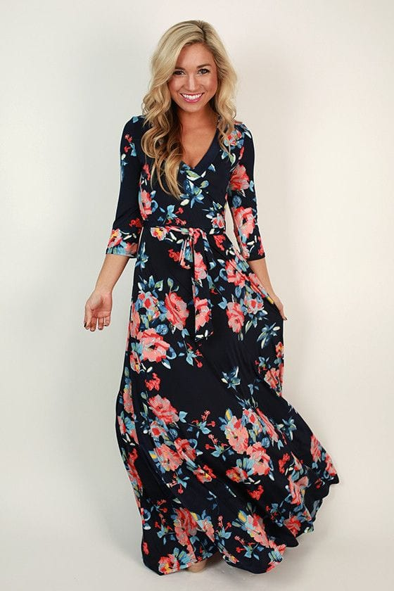 Black-and-Pink-Floral-Dress Casual Outfits for Women - 23 Cute Dresses for Casual Look