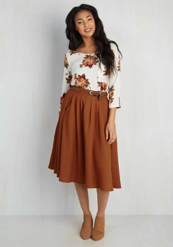 Brown-Two-Piece Casual Outfits for Women - 23 Cute Dresses for Casual Look
