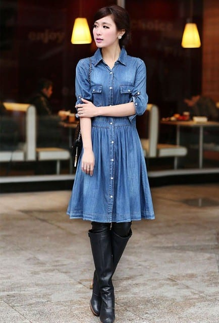 Denim-Dress Casual Outfits for Women - 23 Cute Dresses for Casual Look