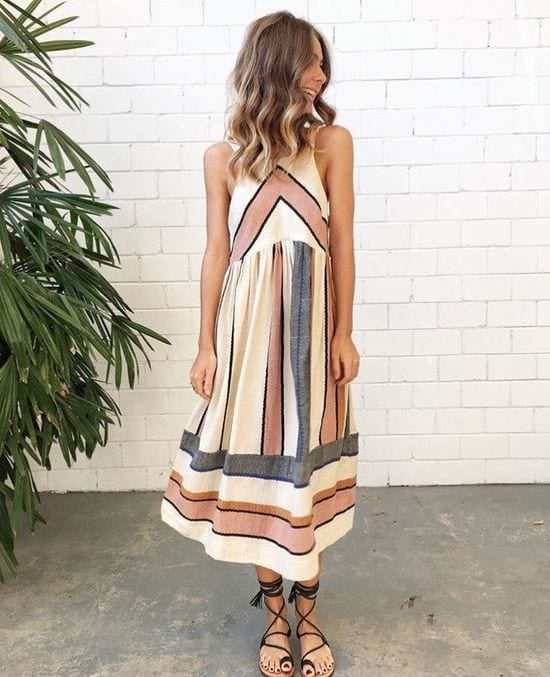 Geomtric-Dress Casual Outfits for Women - 23 Cute Dresses for Casual Look