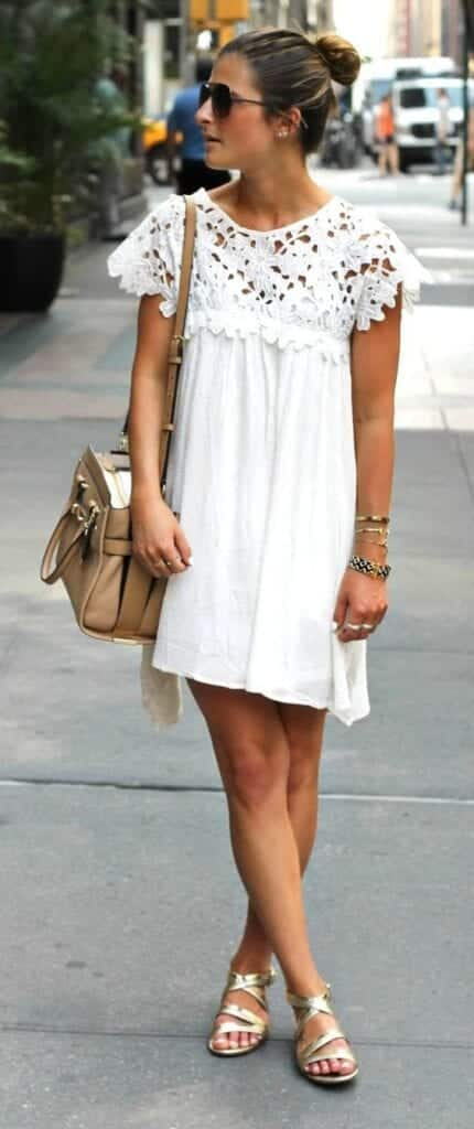 Plain-White-Dress-430x1024 Casual Outfits for Women - 23 Cute Dresses for Casual Look