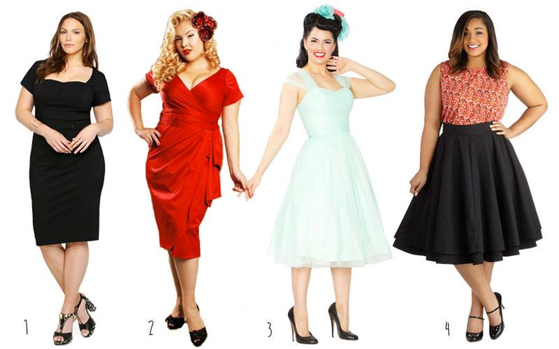 Plus-Size-Vintage-Dresses- 2017 Christmas Outfits for Plus size women - 23 Party Wear