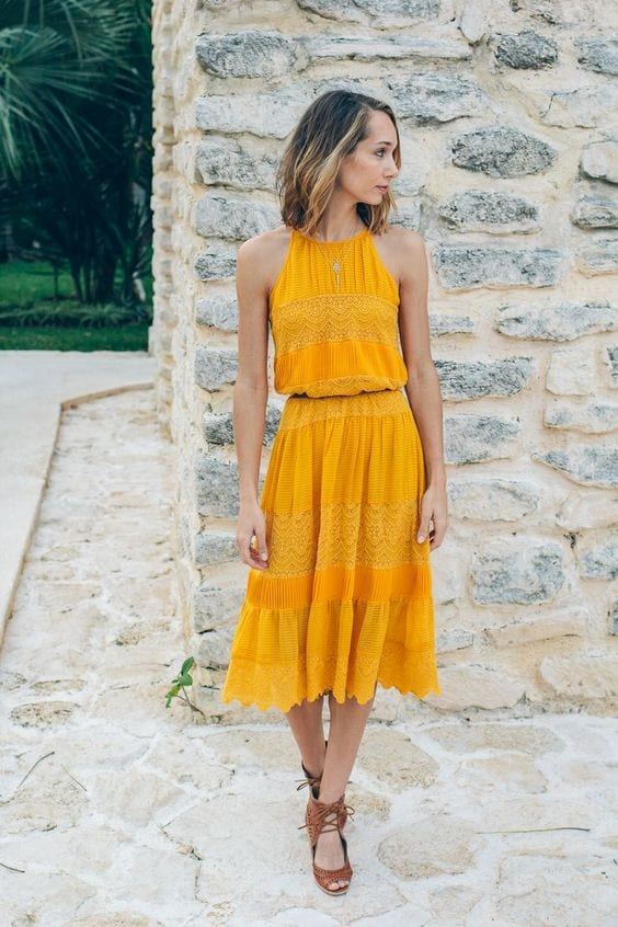 Yellow-Short-Dress Casual Outfits for Women - 23 Cute Dresses for Casual Look