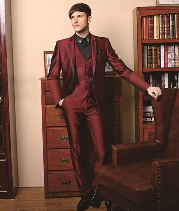 font-b-Custom-b-font-Morning-Style-Groom-font-b-Tuxedos-b-font-burgundy-Best Christmas Outfits for Guys 19 Ways How to Dress for Christmass