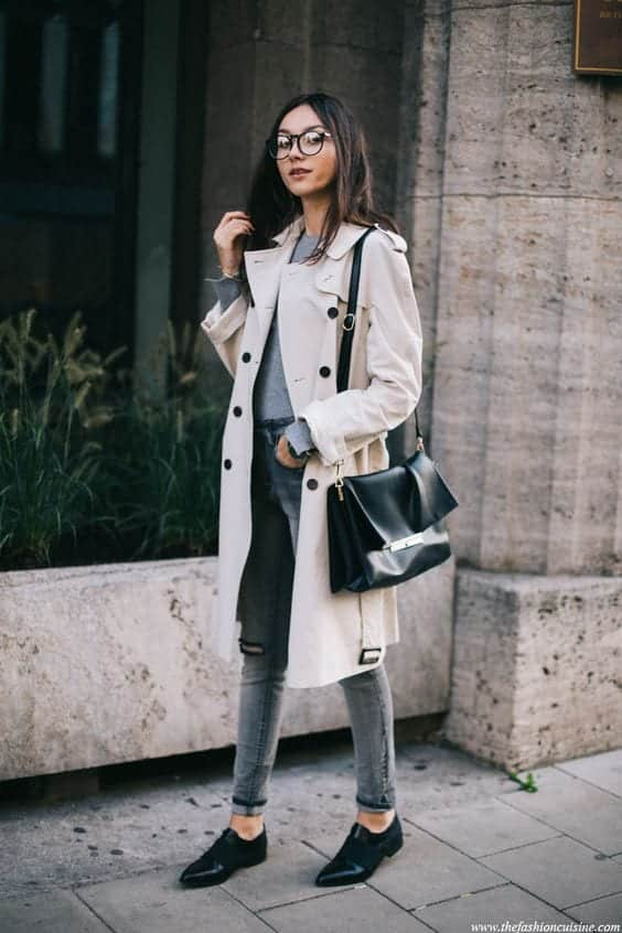 Trench Coat Outfits Women-19 Ways to Wear Trench Coats this Winter (14)