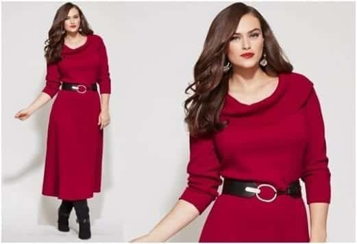 plus-size-christmas-dresses-01 2017 Christmas Outfits for Plus size women - 23 Party Wear