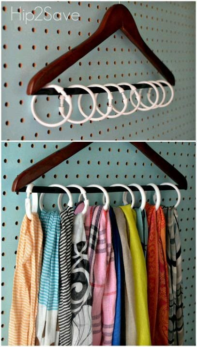 Hanger with Rings For Hijab Storage