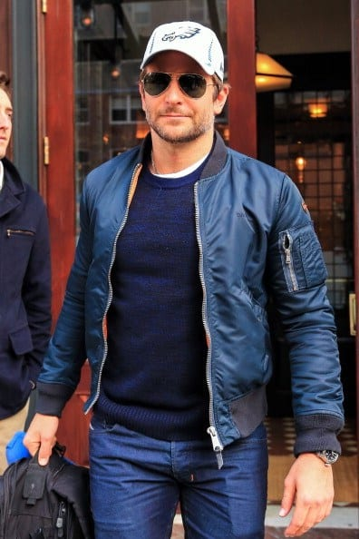 Bomber-Jacket-with-Denim-Jeans How to Wear Bomber Jacket Men-18 Outfits with Bomber Jackets