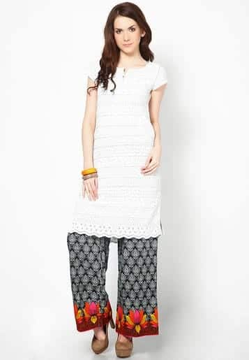 Casual-Palazzo-Pants-Fashion-with-Tops Kurtis With Palazzo Pants-18 Ways to Wear Palazzo with Kurtis