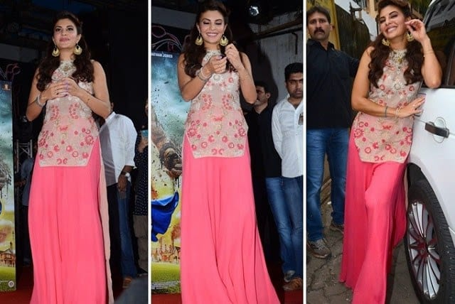 Jacqueline-Fernandes-The-Flying-Jatt-Movie-Promotion-Umang-Festival-Mumbai Kurtis With Palazzo Pants-18 Ways to Wear Palazzo with Kurtis