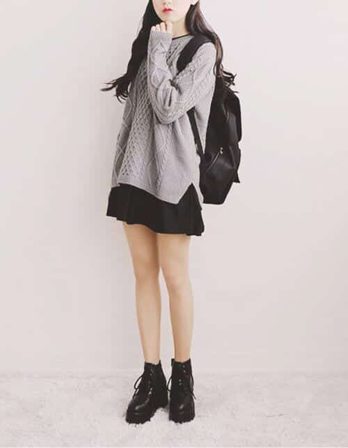 Knit-sweater-over-dress Casual Outfits for Teen girls-19 Cute Dresses for Casual Look