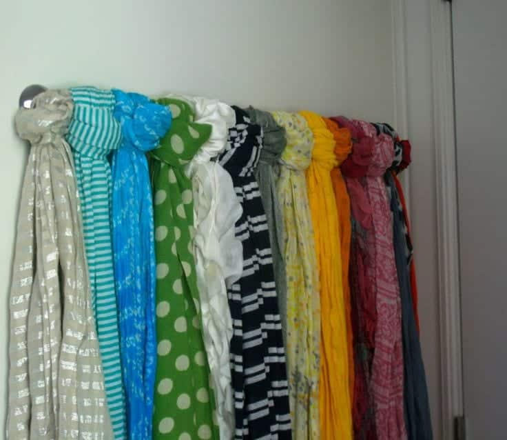 Wall-Scarf-Organizer 12 Great Ideas for Organizing Hijab for Every Day Routines
