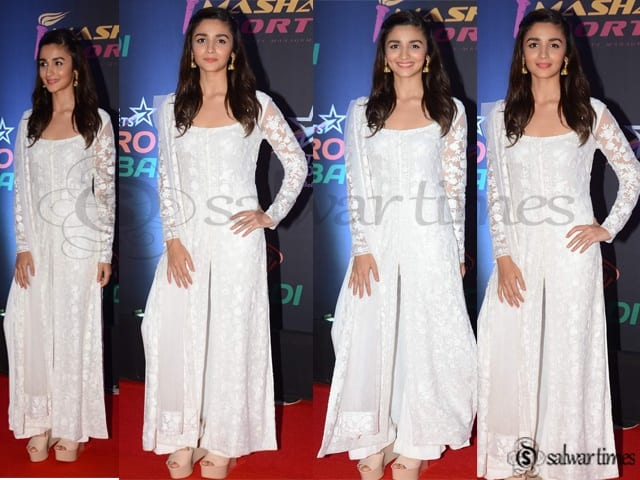 alia-bhat-in-long-kurta-and-palazzo Kurtis With Palazzo Pants-18 Ways to Wear Palazzo with Kurtis