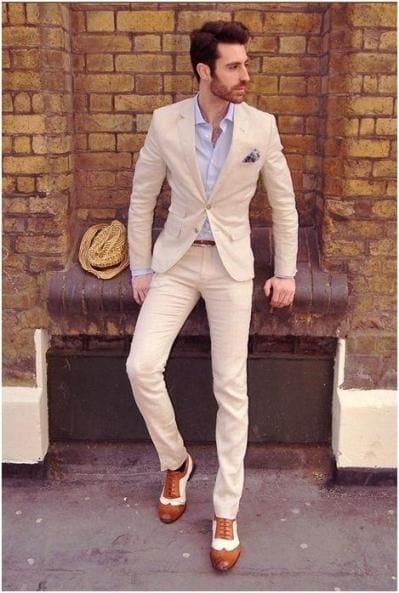 beach-wedding-look-1 Casual Wedding Outfits for Men -18 Ideas What to Wear as Wedding Guest