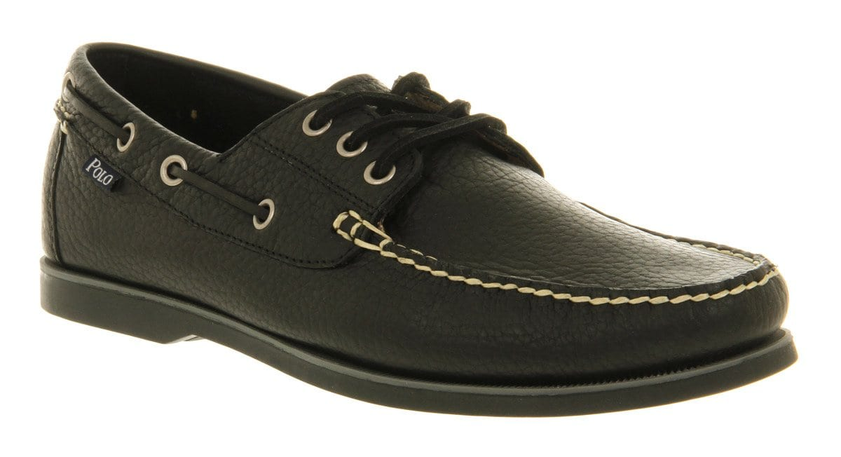 black-polo-boat-shoes-for-men Casual Wedding Outfits for Men -18 Ideas What to Wear as Wedding Guest