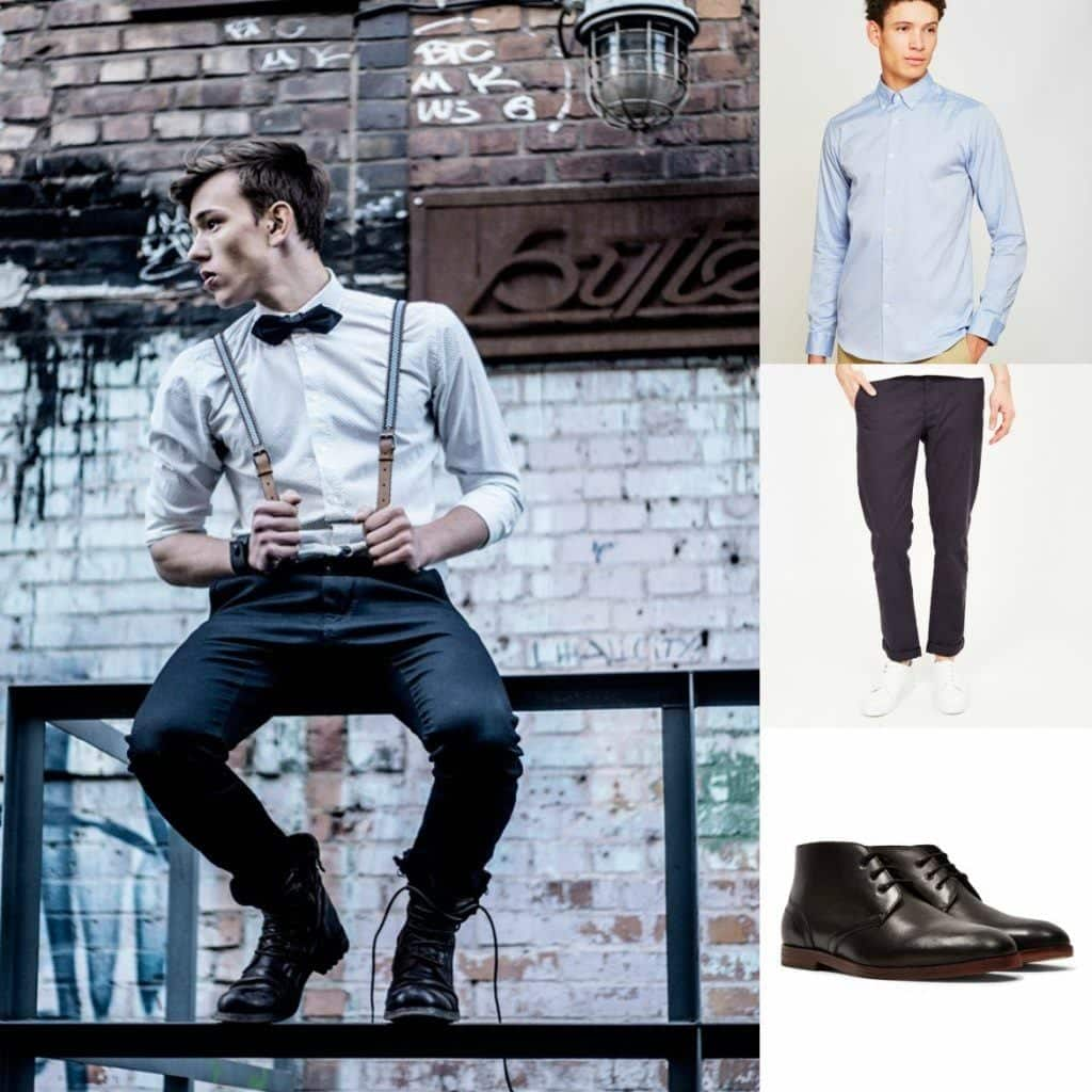 bowtie-and-braces-1 Casual Wedding Outfits for Men -18 Ideas What to Wear as Wedding Guest