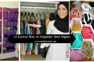 easy ways to organize your hijabs