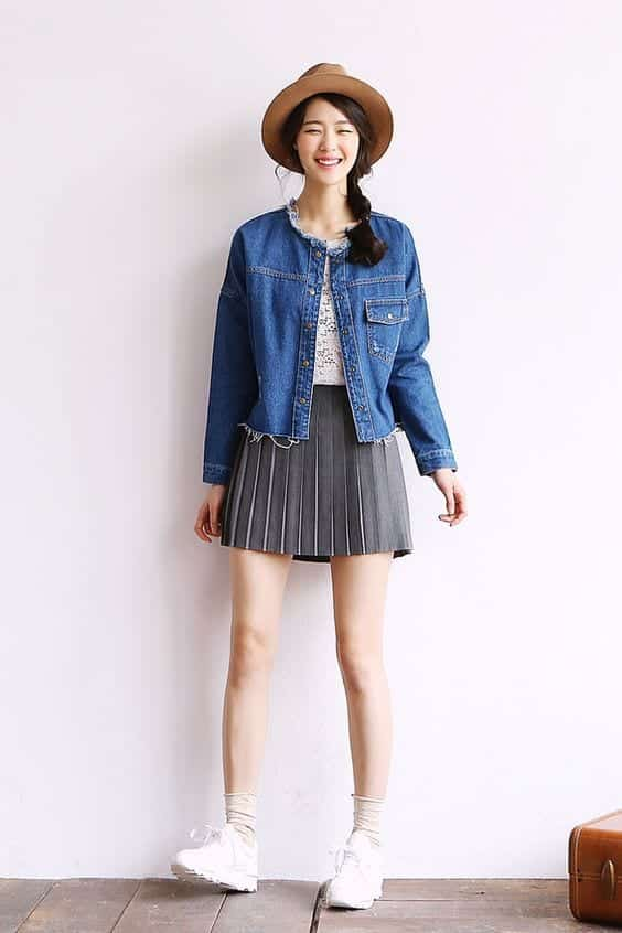jacket-and-hat-with-skirt Casual Outfits for Teen girls-19 Cute Dresses for Casual Look