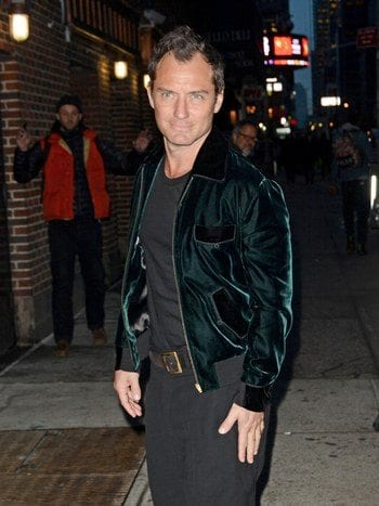 jude-law-wearing-bomber-jacket How to Wear Bomber Jacket Men-18 Outfits with Bomber Jackets