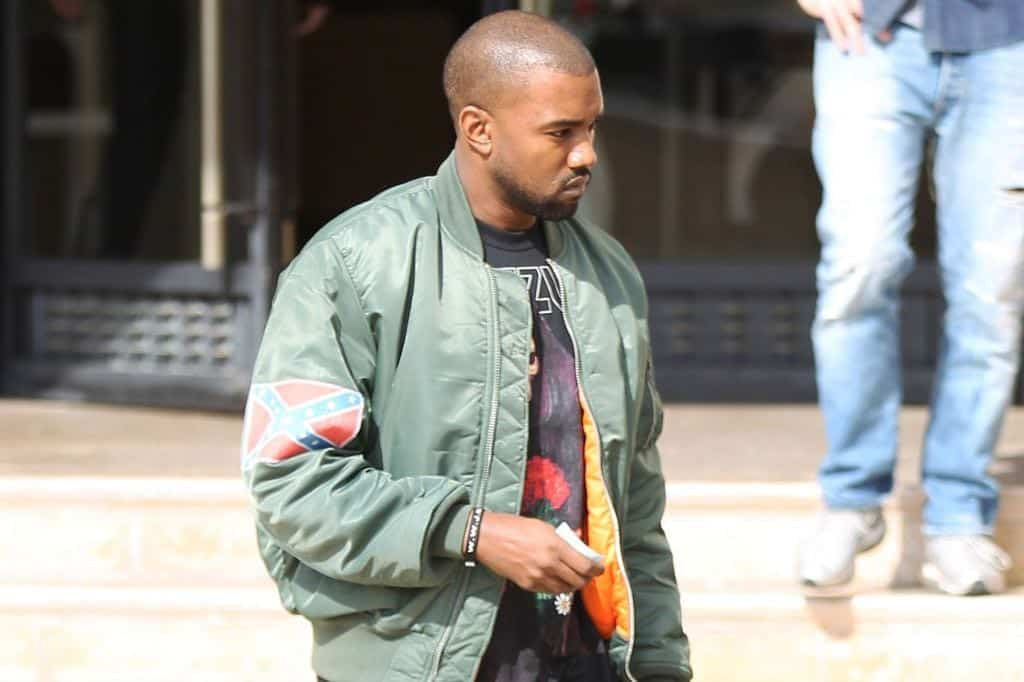 kanye-west-wearing-a-bomber-jacket How to Wear Bomber Jacket Men-18 Outfits with Bomber Jackets