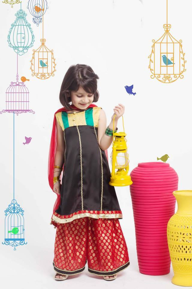 kids-style-palazzo Kurtis With Palazzo Pants-18 Ways to Wear Palazzo with Kurtis