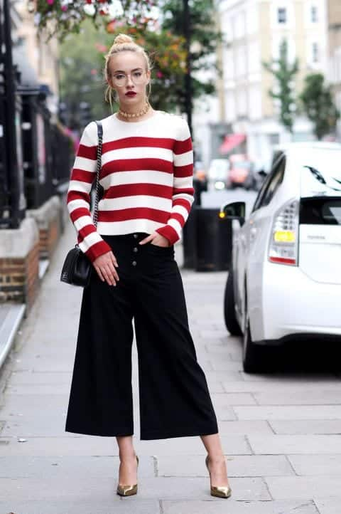 perfect-party-look Outfits with Striped Sweater-23 Ways to Wear Sweaters with Stripes
