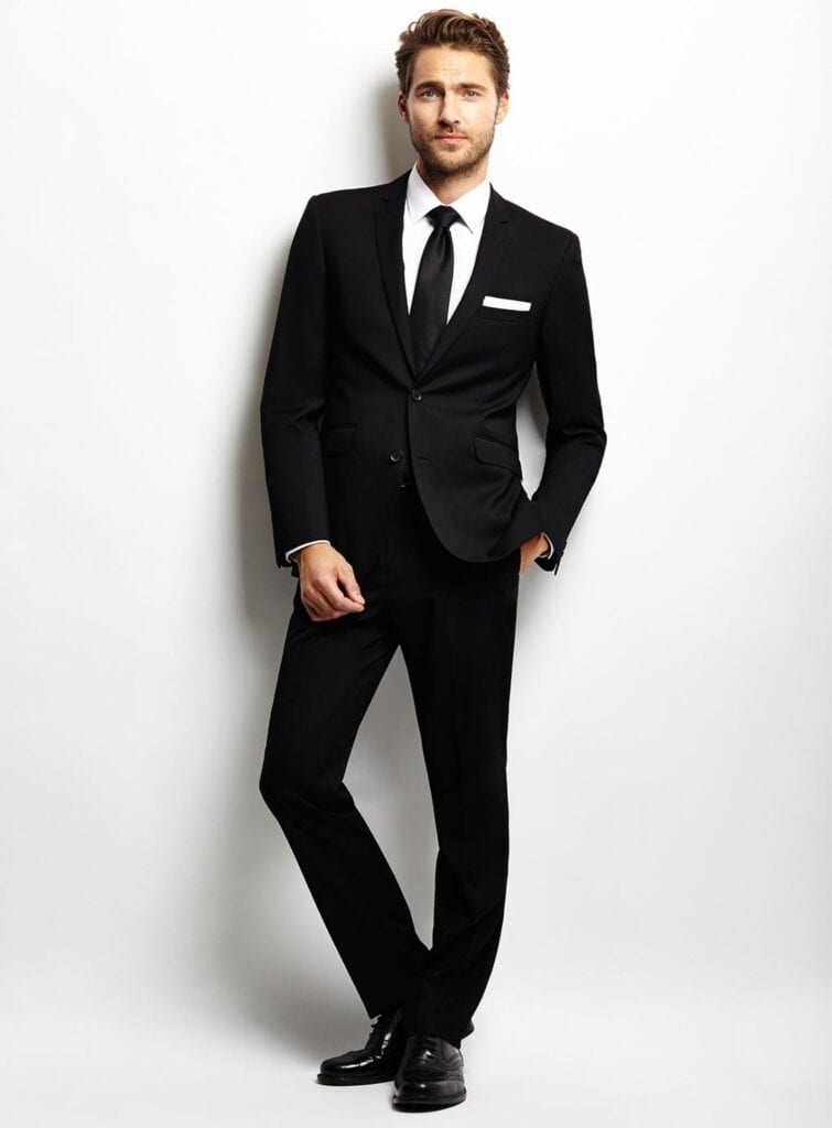Semi formal outfits for guys 18 best semi formal attire ideas for Black suit with black shirt and tie